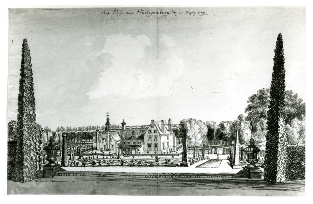 Heiligenberg in Leusden. Tekening Jan de Beijer, 1749